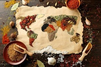 Spice map of the world
