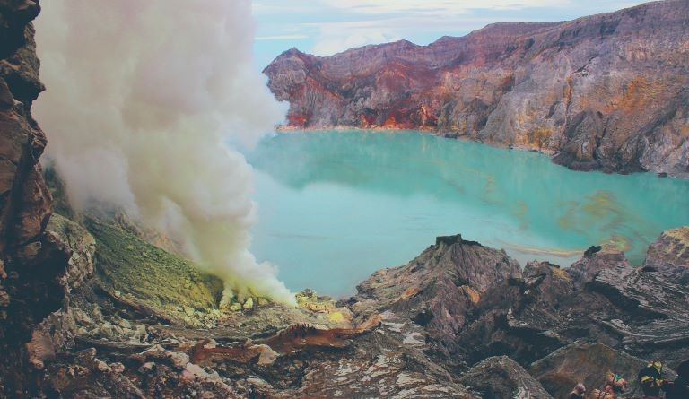 Ijen Crater Acid Lake