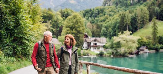 couple trekking